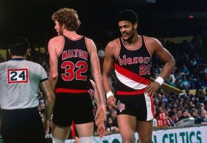 Bill Walton and Maurice Lucas - Portland Champs 1977