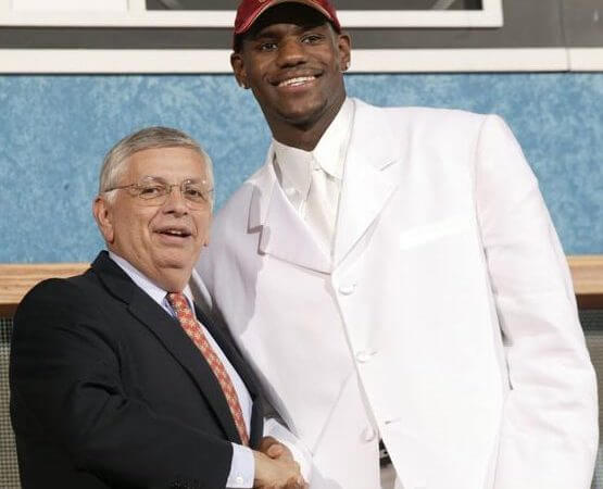 Lebron James Draft Night