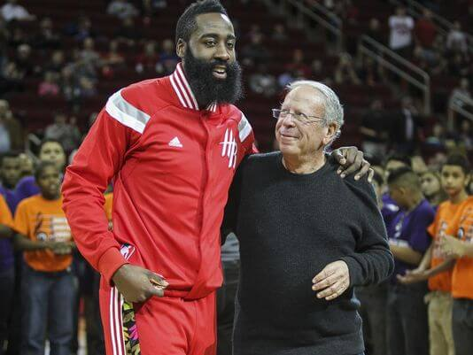 Leslie Alexander and James Harden