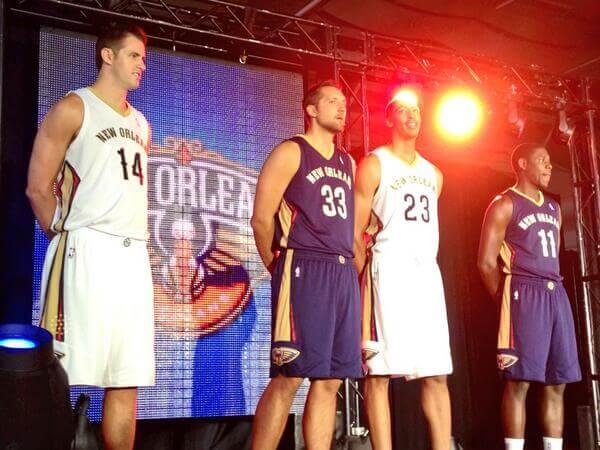 Pelicans New Uniforms 2013