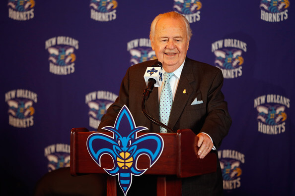 Tom Benson New Orleans Hornets Introduce