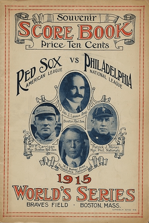 1915 World Series Boston Red Sox