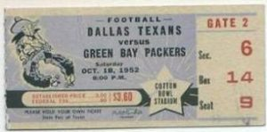 1952_PACKERS_Dallas_Texans_Ticket