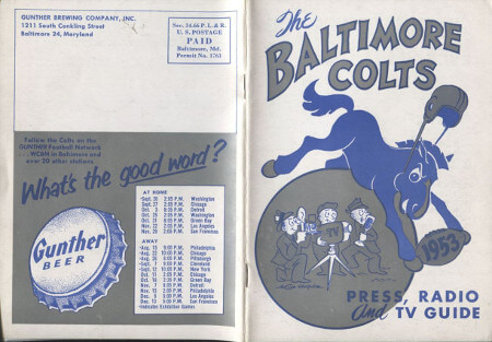 Baltimore Colts 1953 Press Guide