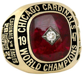 Championship Ring - Chicago Cardinals 1947