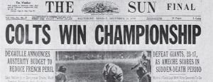 Colts Win Championship 1958