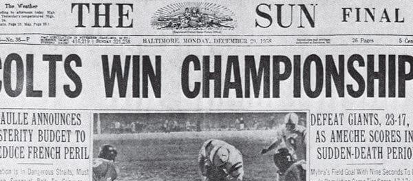 Colts Win Championship 1958