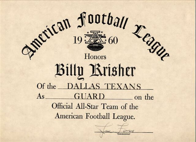 Dallas Texans 1960