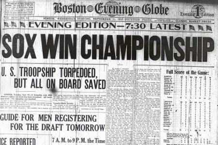 Sox Win Championship 1918