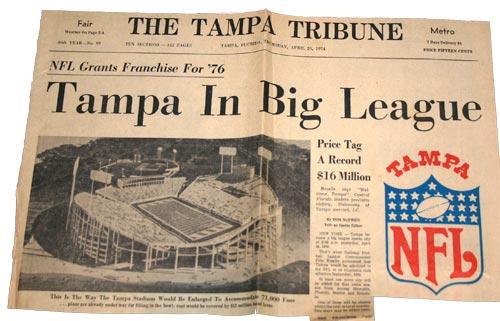 Tampa NFL News 1976