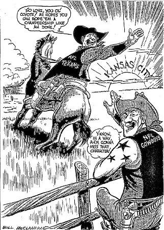 Texans leave for Kansas City 1963