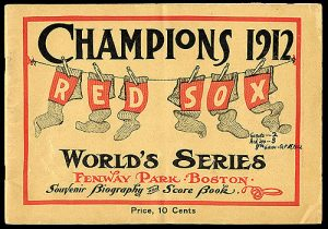 World Series 1912 Boston Red Sox
