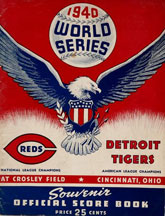 World Series - 1940 Program Reds - Tigers