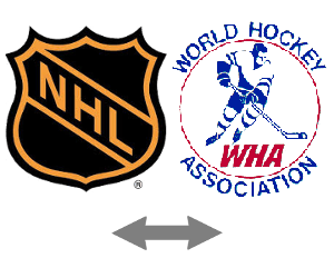 NHL and WHA Merge