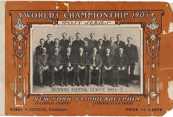 1905 New York Giants World Series