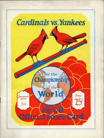 1928_World_Series_Program
