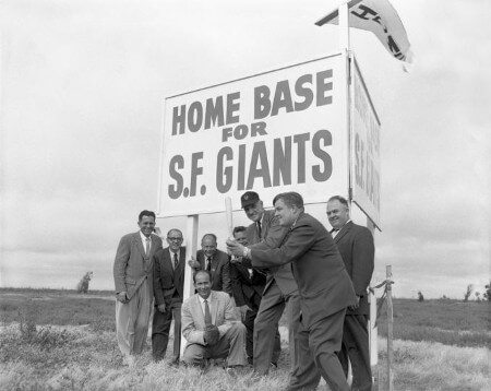 SF Giants Staff at Candlestick Park 1957