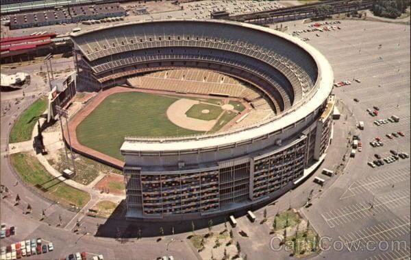 Aerial View of Shea Stadium Queens