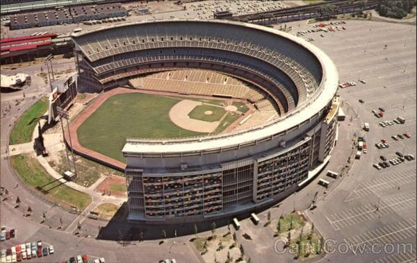 Aerial View of Shea Stadium Queens