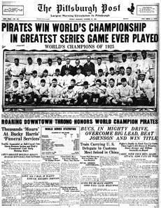 World Series - 1925 Pittsburgh Pirates