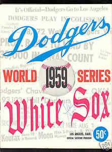 World Series - 1959 LA Dodgers