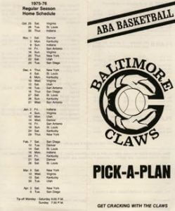 Claws Brochure 1975