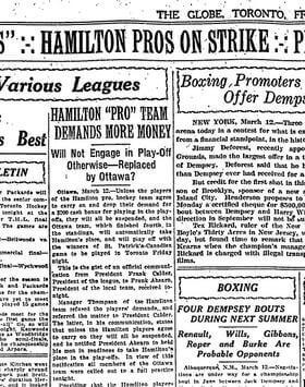 Hamilton pros on strike