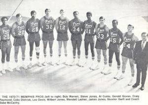 Memphis Pros 70-71 Road Team