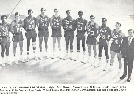Memphis Pros 70-71 Road Team
