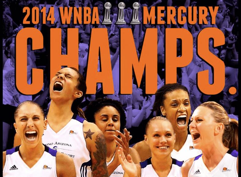 Phoenix Mercury 2014 Champs