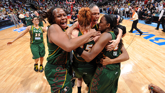 Seattle Storm 2010 Champs