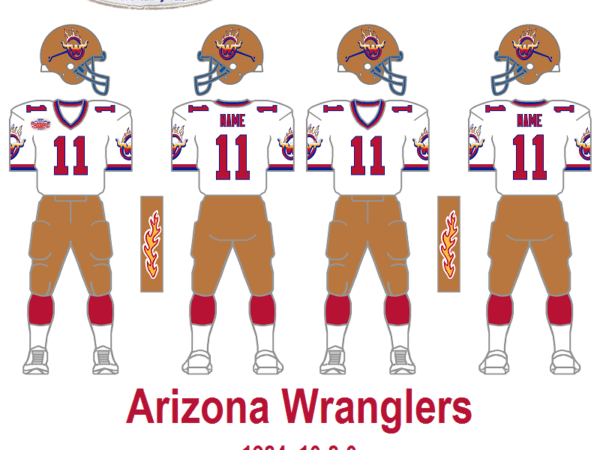 1984 Arizona Wranglers Program