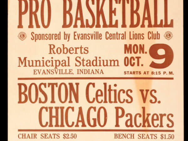 Celtics-Packers Program 1961