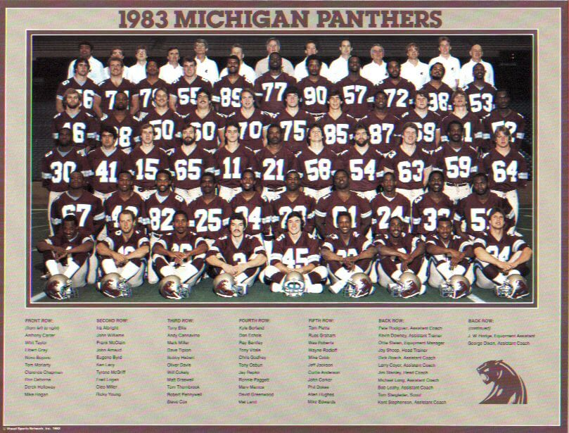 Michigan Panthers Team Photo