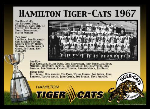 1967 Hamilton Tiger-Cats