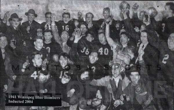 Blue Bombers 1941 Grey Cup