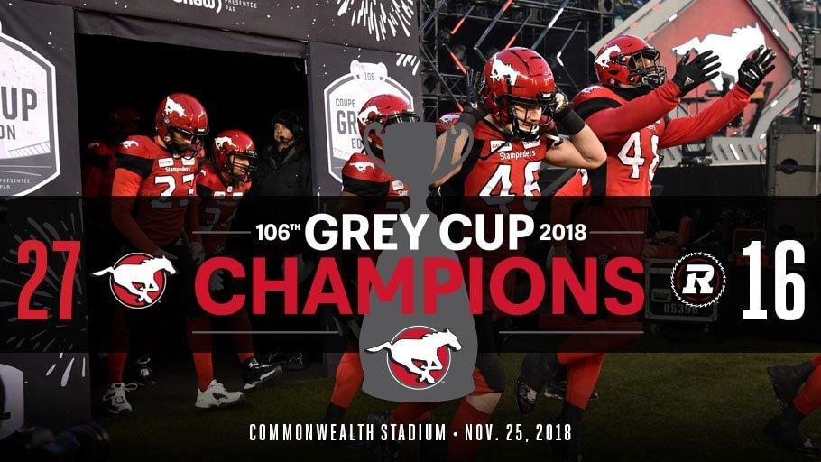 Grey Cup Calgary Stampeders 2018
