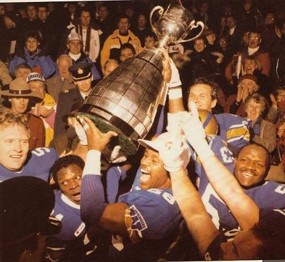 Winnipeg Blue Bomber Grey Cup Champs 1988