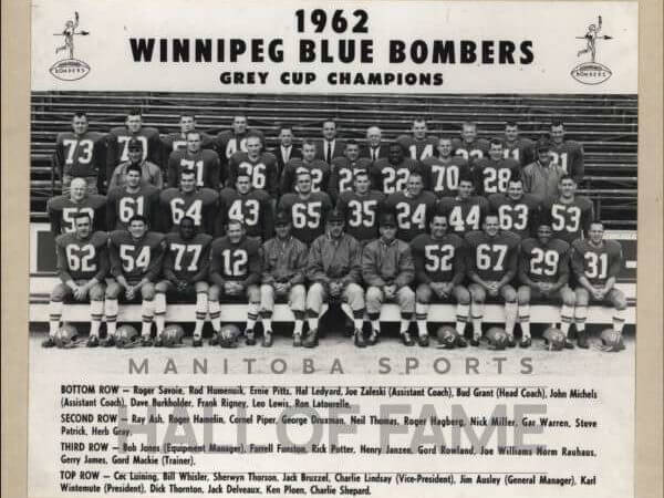 Winnipeg Blue Bombers 1962 Grey Cup