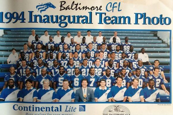 Team Photo Baltimore Stallions 1994