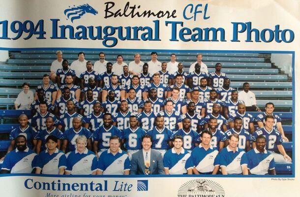 Team Photo Baltimore Stallions 1994