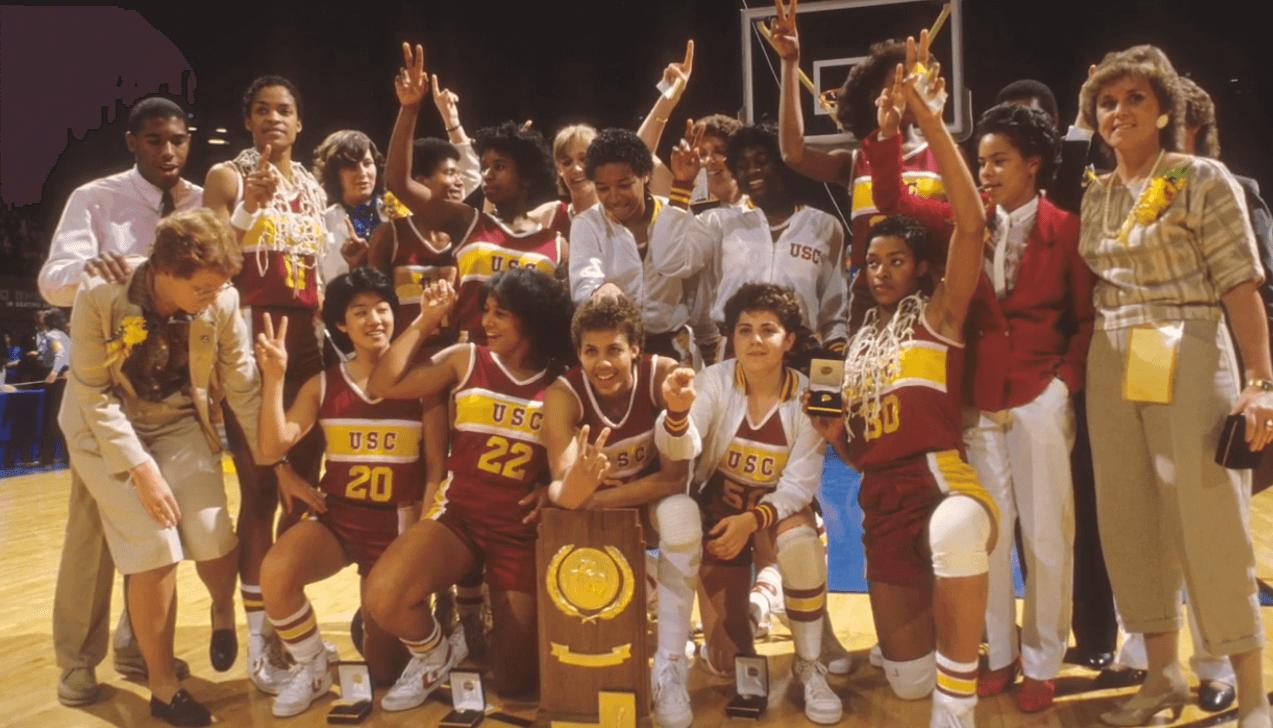 Trojans Womens Basketball Champs 1984