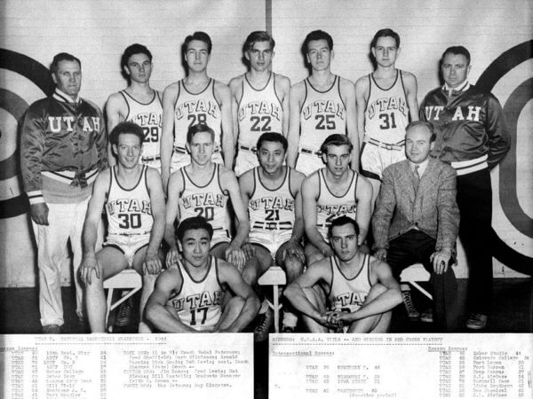 Utah Utes Basketball Champs 1944