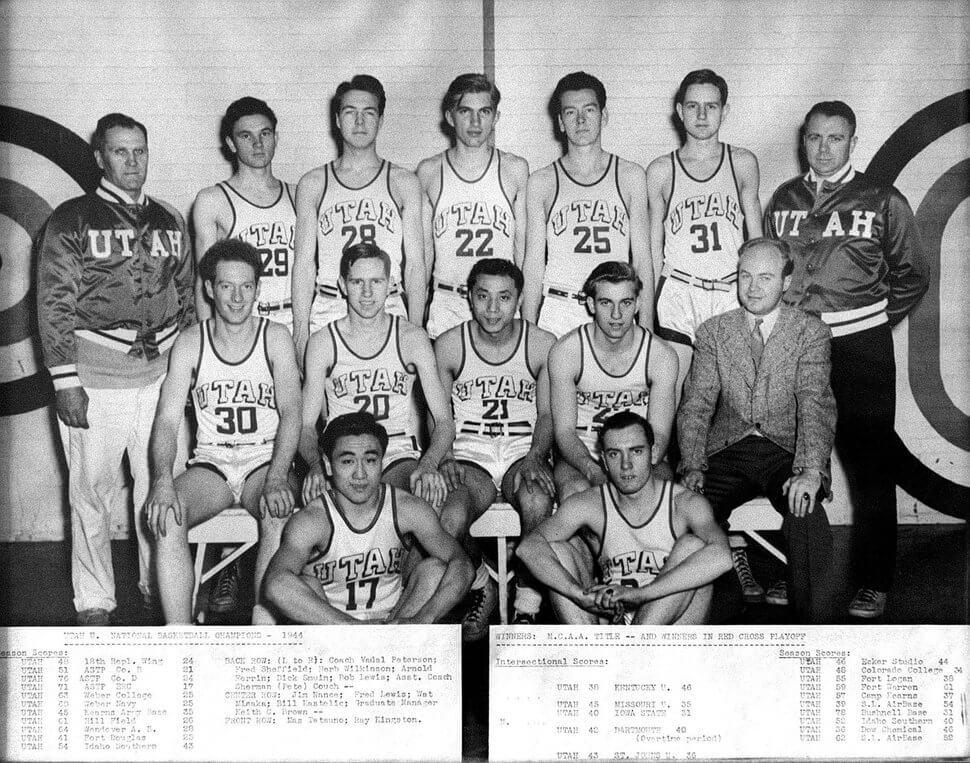 Utah Utes Basketball Champs 1944