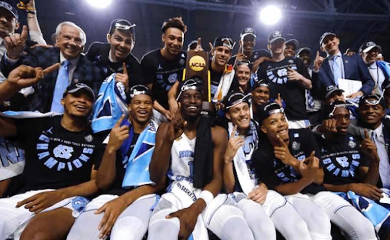 North Carolina Tar Heels Final Four Champs 2017