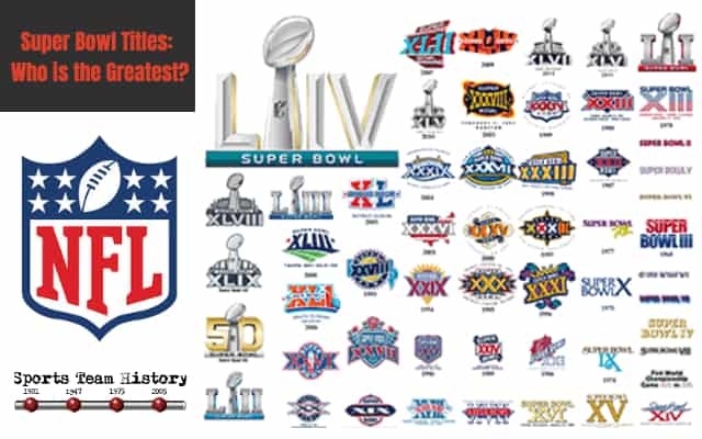 Super Bowl Titles - Who is the Greatest?