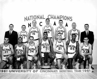 Cincinnati Bearcats Basketball Champs 1961