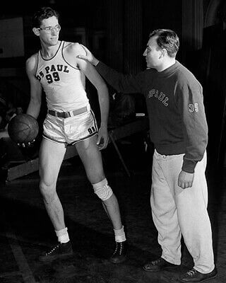 George Mikan and Ray Meyers DePaul 1946