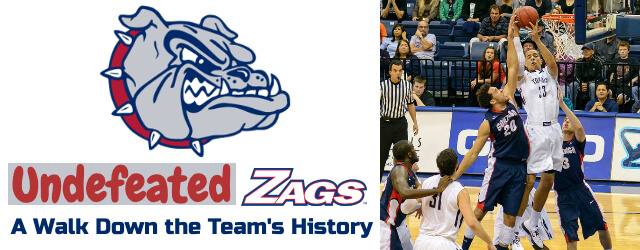 Zags Undefeated Season Banner