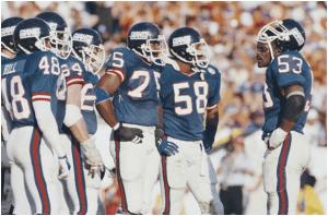 Giants Huddle